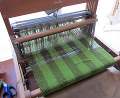 plain weave green