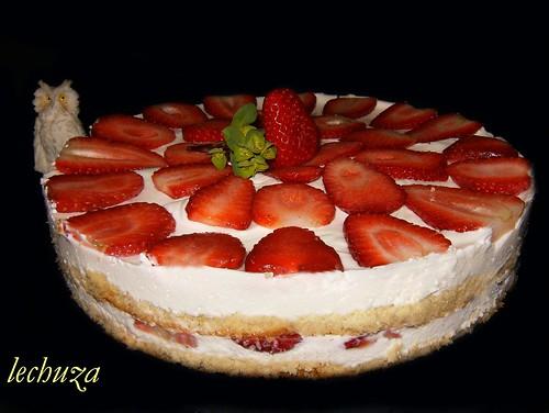 Tarta fresas-entera