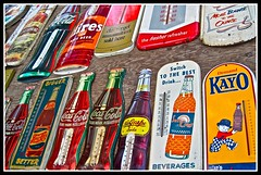 Vintage Soft Drink Artifacts