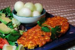 Thai Corn Cakes (John 3000) Tags: food home cooking asian cuisine salad vegan corn comida cocina thai vegetarian recipes cucina cocinar