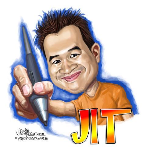 digital caricature of Jit