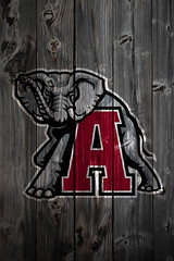 Alabama Crimson Tide Alternate Logo Wood iPhone 4 Background