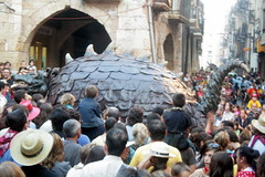 Impressionen von der Fiesta de Santa, Tarragona, Katalonien
