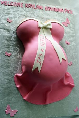 amazing hd wallpapers pink pregnant belly cake