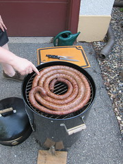Smoking the sausage