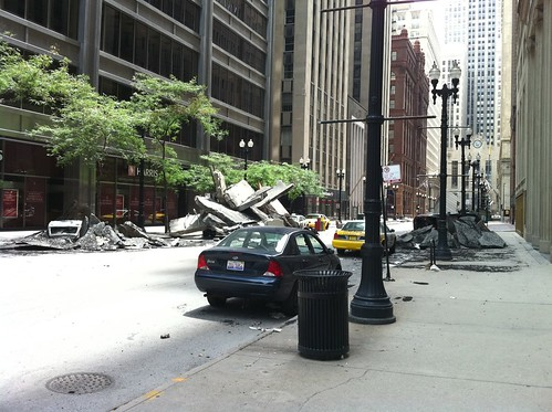 Decepticons handy work at Jackson and lasalle – downtown Chicago