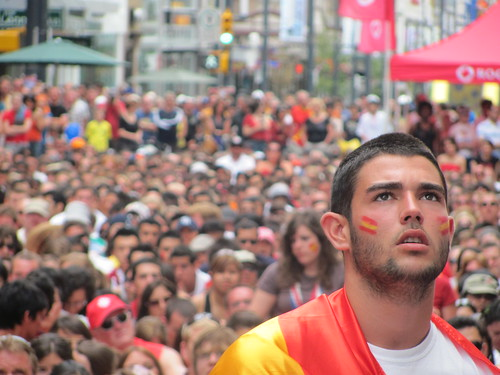Watching World Cup Final in Vancouver: On Granville Street