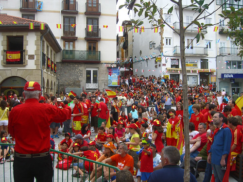 Spain Fans Laredo (90 min before World Cup Final)