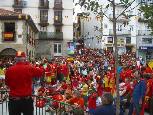 Spain Fans Laredo (90 min before World Cup Final)