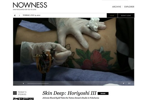 Horiyoshi III on nowness.com