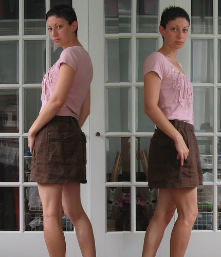 skirt - brown linen from misha's pants