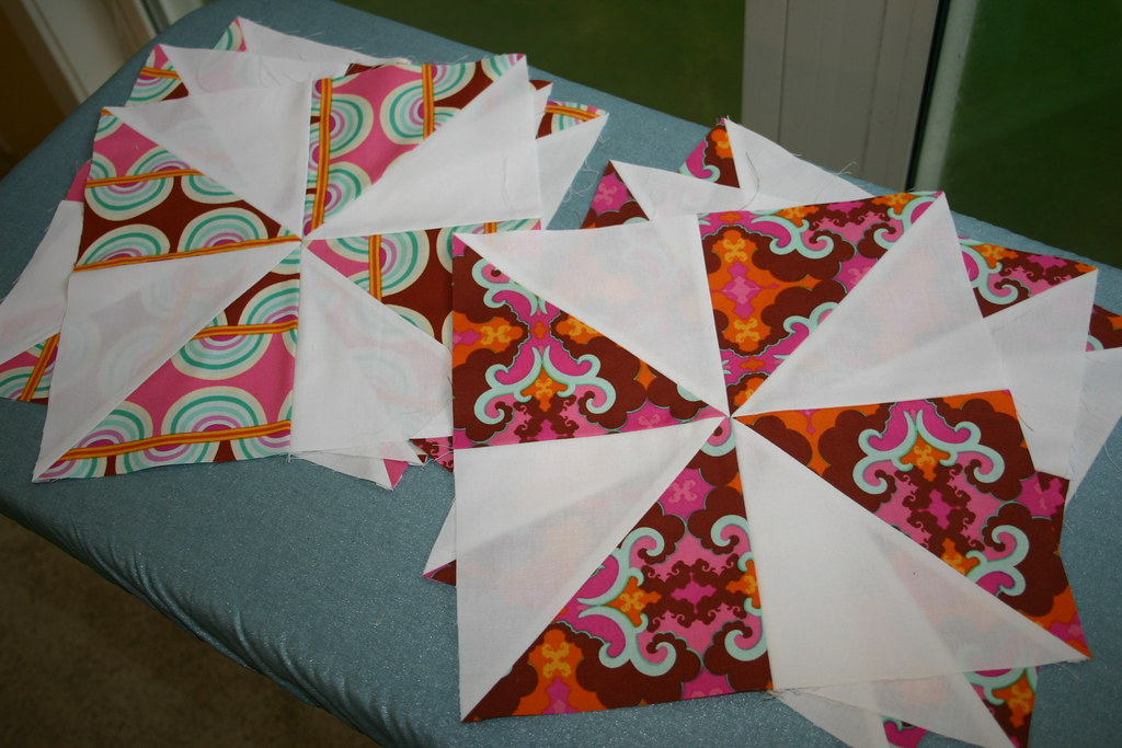 Sugar Snap Quilt - a few blocks made