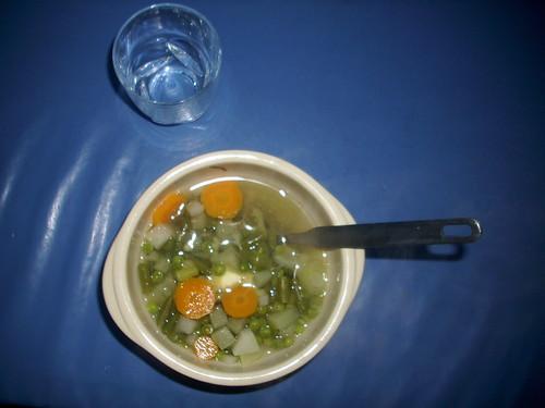 Potage Julienne dans un bol à soupe