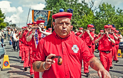 Oh, and here's a history lesson for you! (KeizGoesBoom) Tags: people music march candid down belfast bands instrument northernireland ni protestant prod 2010 countydown twelfth orangemen ballygowan orangefest july12th