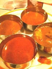 モティマハール、カレー四種