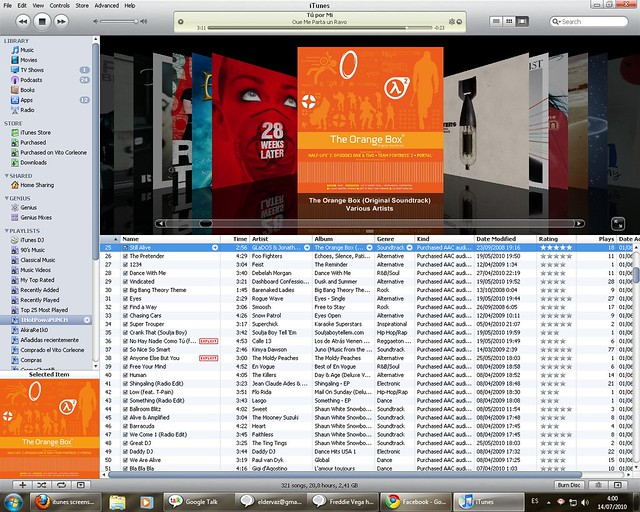 Screenshot iTunes 2010