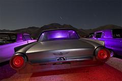 Thunderbirds Are Go! (Lost America) Tags: lightpainting abandoned night fullmoon junkyard thunderbird startrails highway395 nocturnes pearsonville bulletbird
