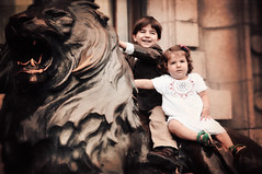 FRANCO & LIERE (irfan cheema...) Tags: kids children shanghai lion siblings irfancheema
