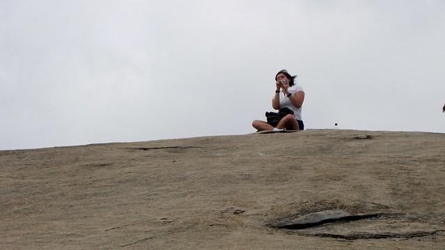 Becky atop Stone Mountain