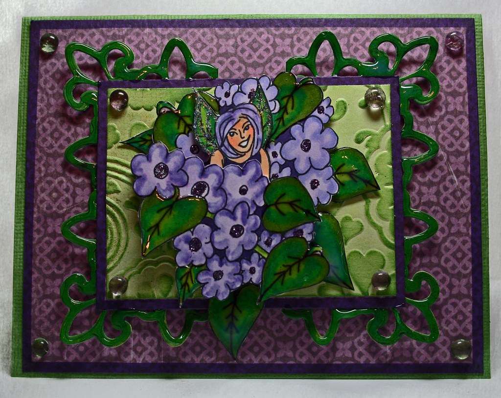 Lovely Lilac Embellishement card