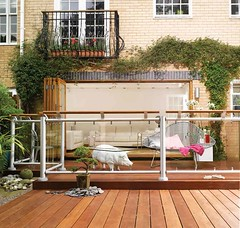 Contemporary Fusion Acrylic Panel Deck (Richard Burbidge) Tags: decks decking deckrailing deckboards wooddecking gardendecking richardburbidge deckingbalustrade deckingrails deckingbalustrades