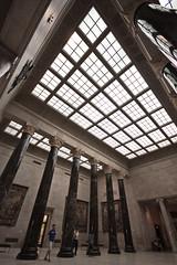 nelson-atkins lobby (flee the cities) Tags: art museum architecture columns skylight entrance kansascity missouri limestone corinthian marble visitors nelsonatkinsmuseumofart tapestries grandlobby