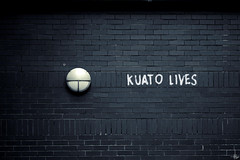 The Kuato Lives Reference (Lee) Tags: lamp wall liverpool canon movie bricks schwarzenegger lives arnie might totalrecall 450d kuato leeislee leeworrall