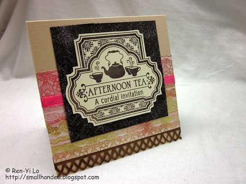 Afternoon Tea Invite Card