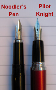Noodler's Ink Piston Fill Fountain Pen: Section Comparison