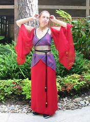 My Inara Dress (apryl_knight) Tags: red tree green asian gold dress purple longhair convention obi josswhedon ferns redhair companion firefly inara apollocon
