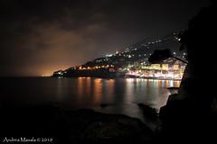 Luci della sera... (dria78) Tags: light sea italy night lights nikon italia mare liguria genova luci nikkor notte sori d700 2485mmf284
