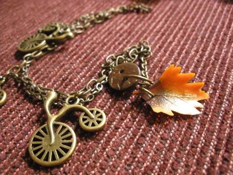 bike and autumn leaf