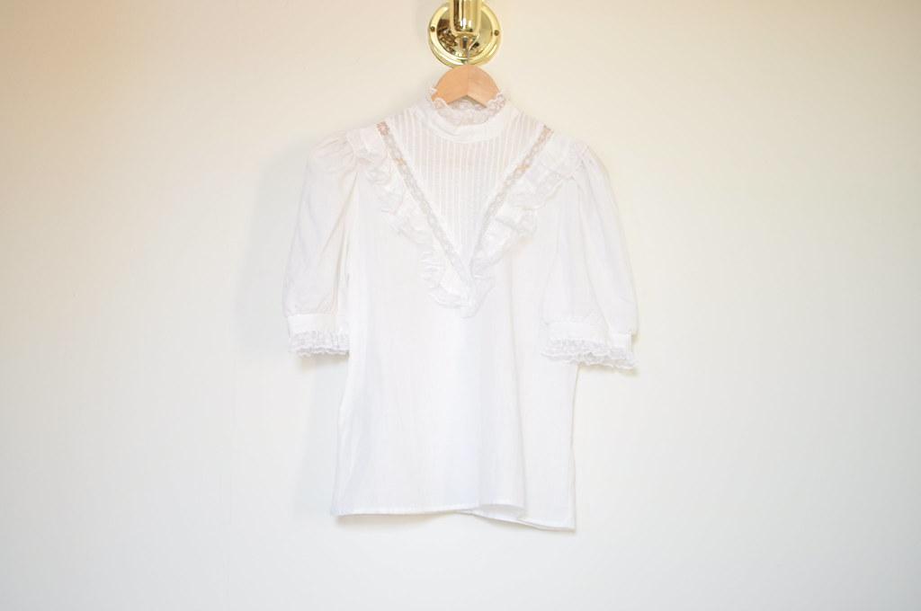 vintage prairie blouse