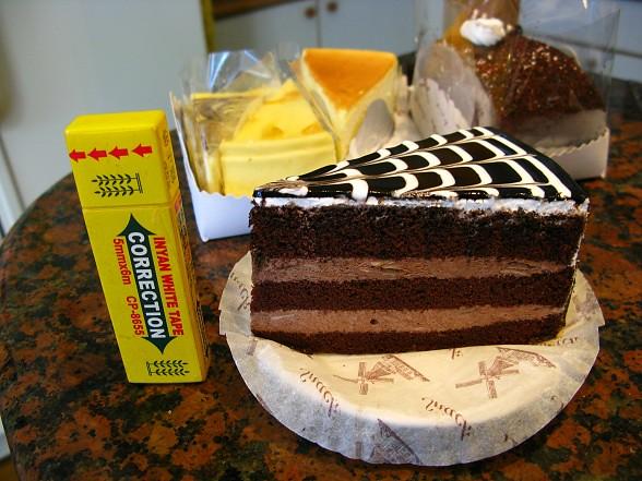 螺旋裝飾巧克力蛋糕