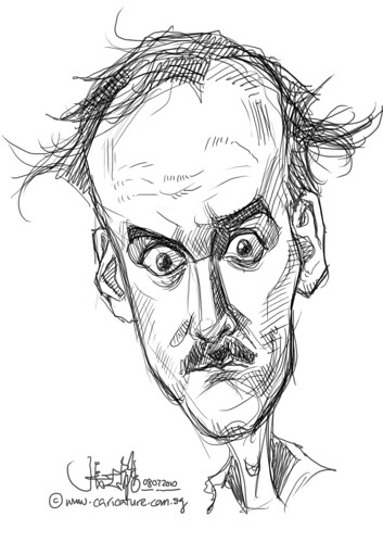 digital sketch studies of John Cleese - 1