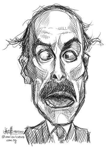 digital sketch studies of John Cleese - 2