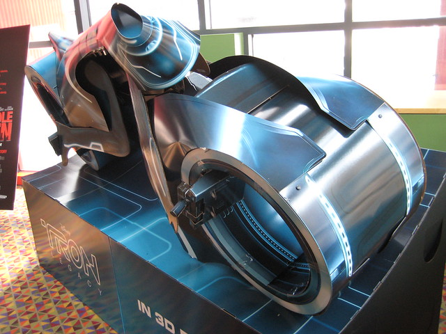 Tron Legacy Light Cycle Movie Poster Standee 3