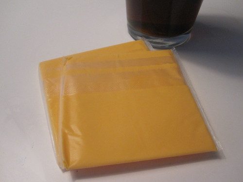 cheese slices and soda