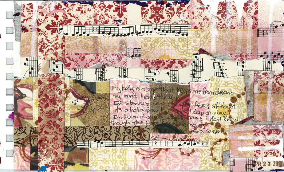 Art Journal Page - My Body is a Cage