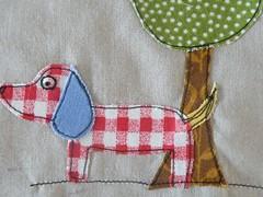 detail (monaw2008) Tags: dog handmade sewing mona fabric applique monaw2008