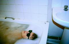 Sunglasses Weather (Joseph O John) Tags: portrait selfportrait water sunglasses nude model bath josephjohn