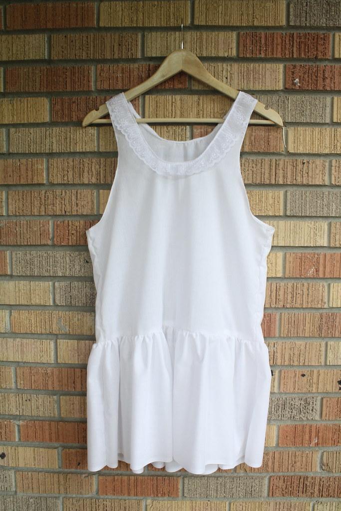sewing saturday! a drop waist dress