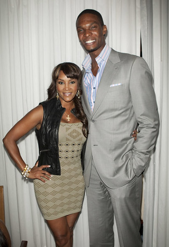 chis bosh & vivica fox at the heat dinner celebration