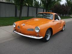 1960 Volkswagen Karmann Ghia (dave_7) Tags: orange classic car vw volkswagen alberta lethbridge ghia 1960 karmann aircooled