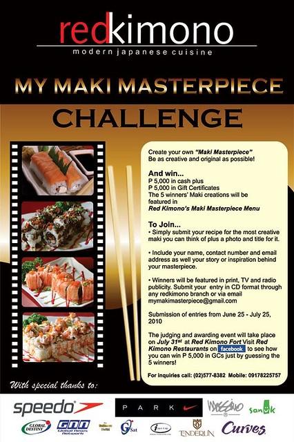 Red Kimono My Maki Masterpiece Challenge