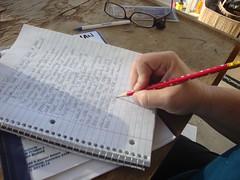 I write..... (juliejordanscott) Tags: pencil notebook glasses desk script morningpages