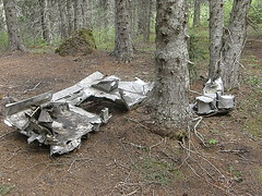 Plane wreckage just off of Tull Canyon trail.