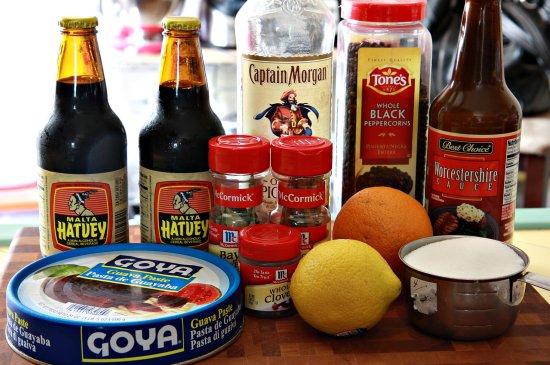 Malta and Spiced Rum Glazed Ribs