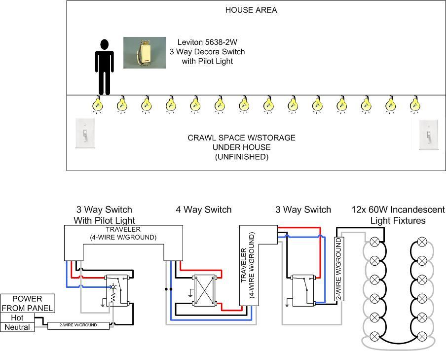 pilot switch wiring diagram 3-way w/pilot light wiring question - doityourself.com ...