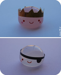 P & P (itslour) Tags: flower cute studio toy japanese acrylic princess pirate kawaii sakura crown eyepatch manju onsenmanjukun